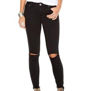 Free People ripped knee skinny jeans